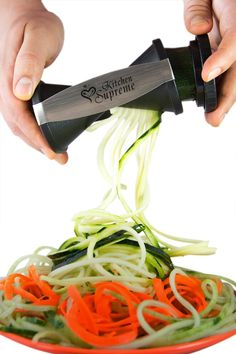 Amazon.com: Spiral Slicer Spiralizer Complete Bundle - Vegetable Spiralizer and Cutter - Zucchini Pasta Noodle Spaghetti Maker: Kitchen & Dining http://amzn.to/2tPhDqT
