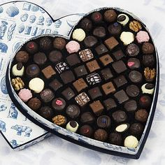 Rococo Heart Box no. 5 with mixed chocolates