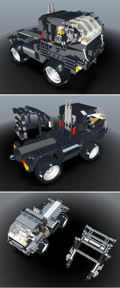 LEGOs and trucks are two of my favorite things, so LEGO Heavy Truck 4×4 With Detached ROC by Alfred (alfredix) is a real treat. Alfred has done a great job designing this truck in 3D and actually making it in his own world. He has a real one in his office! Alfred used LEGO Digital Designer and then 3DVIA Printscreen to create a model for uploading. [Alfred lives in Germany]
