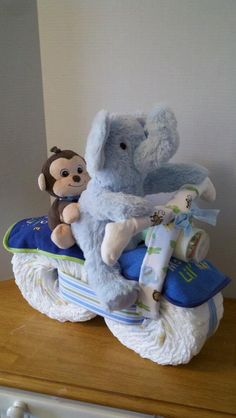 Diaper Motorcycle with Driver & Passenger  Baby by 2CuteDesignsLS, $55.00