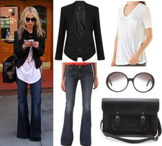 Rachel Zoe's Casual Style.  I'm not sure why she always wears things that are way to big for her. But I like it.