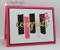 CAS Sunshine Sayings Congrats by amyk3868 - Cards and Paper Crafts at Splitcoaststampers