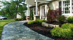 Driveway idea and landscaping design.