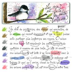 Ce que j'aime: Petits bonheurs #Aquarelle #Watercolor #Moleskine #Art #Journal