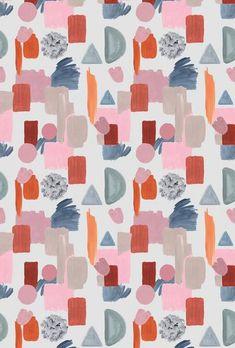 Behang Terrazzo bright– roomblush Terrazzo, Good Mood, Bright, Quilts, Blanket, Wallpapers, Inspiration, Design, Block Prints