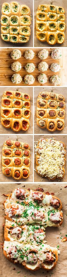 These Cheesy Chicken Meatball Rolls are succulent and cheesy, beyond delicious and the perfect appetizer or snack. We're talking perfectly seasoned, juicy chicken meatballs, stuffed inside bread rolls that are slathered with a yummy garlic butter sauce, topped with marinara sauce and loaded with mozzarella cheese!
