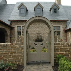 stonework, tones, and gate