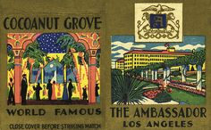 April 21, 1921: The famous Cocoanut Grove opened at the Ambassador Hotel. More info via Studio for Southern California History: http://www.icontact-archive.com/YAuysBsJ0Zwucuu79yxUEIYNbkMmrS3i?w=1