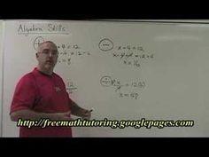 Basic Algebra Skills Part 1