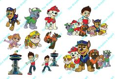 Paw Patrol SVG PDF AI files  Instant Download  by TheGraphicsDepot