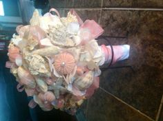 Beautiful Sea Shell Bridal Bouquet by VintageVelvetBox on Etsy, $300.00