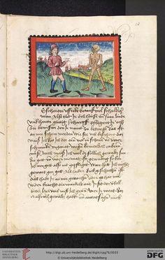 Cod. Pal. germ. 76: Johannes von Tepl: Der Ackermann aus Böhmen (Stuttgart - Werkstatt Ludwig Henfflin, um 1470), Fol 13r