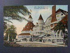 San Diego California CA Hotel del Coronado Antique View Postcard c1910