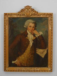French Louis XVI picture portrait oil