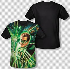 New Green Lantern Of Energy Ring Picture All Over Front Sublimation T-shirt Top Mens Sizes: S, M, L, XL, 2XL, 3XL