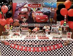 "Cars (Disney movie) / Birthday ""Lucas is turning 1"" 