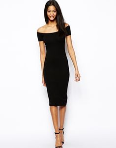 CANDLELIGHT DINNER: Form fitting dress, with interesting neck - a little shorter though