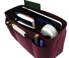 Wine felt bag organizer - large size (W 12in H 6.7in D 4.8in ), also for a school / baby bag, desk, car & etc. $32.95