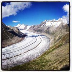 Aletsch Glacier view from Bettmerhorn, Switzerland