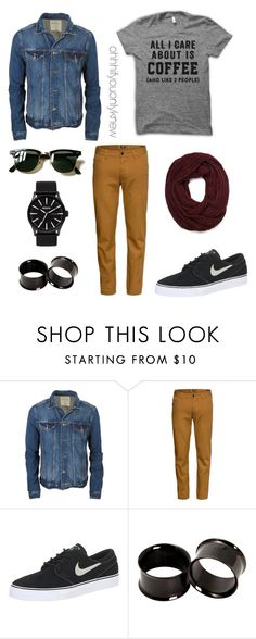 Untitled #228 by ohhhifyouonlyknew on Polyvore featuring H&M, NIKE, 21 Men, Ray-Ban, tomboy, mycreations and tomboyfashion