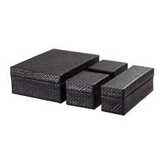 BLADIS Boxen 4 St. IKEA Gut geeignet zum Verwahren von Schreibtischzubehör, Haarspangen, Schmuck und anderen Kleinteilen.