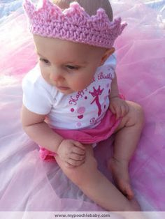 Poochie Baby Crochet Designs: Crochet Toddler Crown: Free Pattern