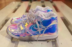 Meet my Sneakers #nike #superbowl #airtrainer #nikeairtrainer #icysole #hologram