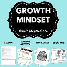 Growth mindset is a concept that is beneficial to be used throughout the year!  Whether it's gearing up of for the start of a new school year, preparing for tests, boosting self-esteem and/or tackling tough transitions.This Growth Mindset Bundle includes:-Intermediate lesson plan (includes ASCA standards)-Intermediate sorting activity -Intermediate worksheet-10 posters (5 color and 5 black/white)This product can be used in a variety of settings, based on your need.-Classroom…