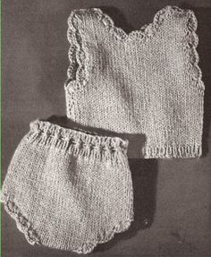 Vintage Knitting PATTERN - Doll Vest Panties Clothes