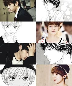 Oh my gosh! Infinite L looks like kou from Ao haru ride and Exo Luhan looks like Touma!