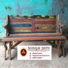 kursi Kafe Rustik Minimalis Kayu Jati Berkualitas - Singa Jati Outdoor Furniture, Outdoor Decor, Bench, Modern, Home Decor, Trendy Tree, Decoration Home, Room Decor, Benches