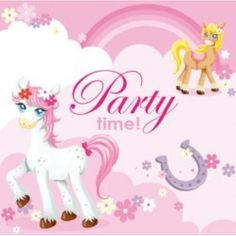 She Said - Party supplies, decorations, themes and food Kids Party Decorations, Beverage Napkins, Party Time, Party Favors, Party Supplies, Pony, Beverages, Pretty, Pony Horse