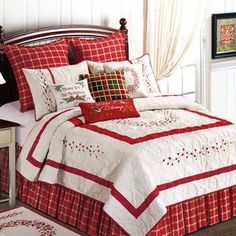 C&F Home Berry Wreath Holiday Quilt makes great Christmas home decor for the entire holiday season! Christmas bedroom decor is a must for the holidays and this Christmas quilt is beautiful. Christmas Bedding, Christmas Home, Elegant Christmas, Country Christmas, Christmas Ornament, Xmas, Quilt Bedding, Bedding Sets, Berry Wreath