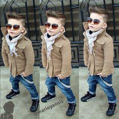 Little boy hairstyle and cute jacket