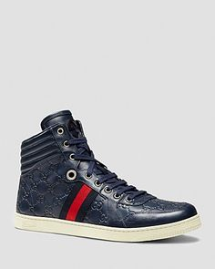 Gucci Guccissima Leather High Top Sneakers | Bloomingdale's