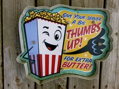 Movie Theater LED Metal Sign Popcorn snack Vintage Home Theatre  Cinema New…