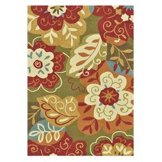 Showcasing a multicolored floral motif, this handmade rug offers a stylish focal point for your dining room or dramatic dimension for your living room. ...