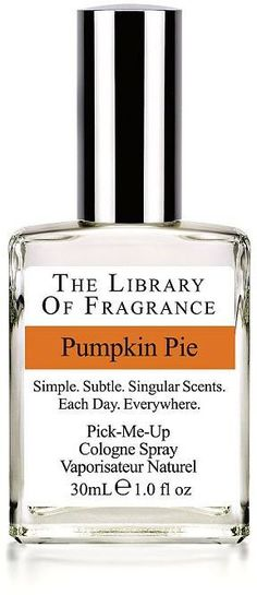 Pin for Later: These Autumn-Inspired Products Smell Good Enough to Eat The Library of Fragrance Pumpkin Pie Eau de Toilette  The Library of Fragrance Pumpkin Pie Eau de Toilette (£15)