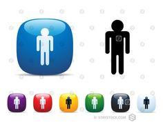 Man Symbol Icon Set
