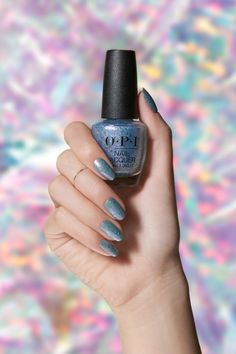 Get this glittery nail polish by pairing the pastel 'Do You Lilac It' with 'Butterfly Me To The Moon' from our limited-edition OPI Metamorphosis collection. Purple Glitter Nails, Glittery Nails, Sparkle Nails, Glitter Paint, Blue Nail Polish, Glitter Nail Polish, Nail Polishes, Manicures, Manicure