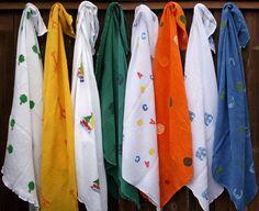 DIY Stamped Gauze/Muslin Snuggle Blankets like Aden & Anais blankets