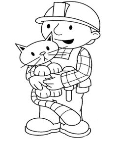 Bob The Builder And Cat Coloring Page