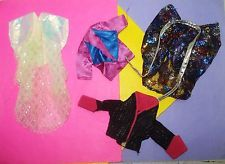 Vtg Jem and the Holograms 80s CLONE TOTSY Doll Clothes Lot JACKETS!!