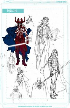 Union by Travel Foreman (Unused designs for Justice League United)