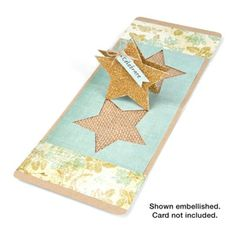 Sizzix #658048 Pop 'n Cuts Magnetic Insert Die - Star, 3-D (Pop-Up) $19.99 (Perfectly decorated by #658034 Party #2 Sizzlits Set)