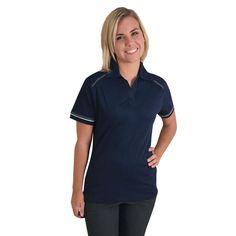 Show details for Ladies Flat Piping Polo Golfers, Womens Flats, Polo Shirt, Lady, Mens Tops, Shirts, Fashion, Moda, Polos