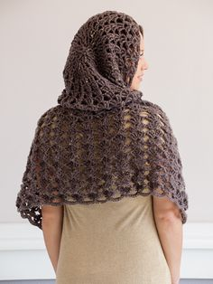 Hooded Cape Crochet Pattern ~ easy level ~ comes in sizes XS t 2XL ~ very unique and pretty~ CROCHET