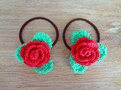 hair elastic Flower Crochet, Beautiful Flowers, Crochet Earrings, Japanese, Hair, Gifts, Accessories, Jewelry, Fashion