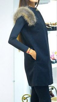 Faux Fur Sleeveless Slim Solid Long Cardigan Vest