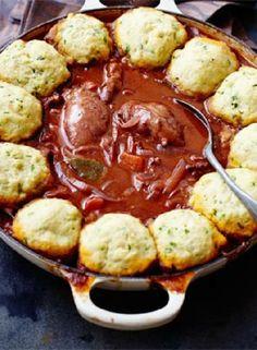 Low FODMAP Recipe and Gluten Free Recipe - Chicken casserole with herb dumplings